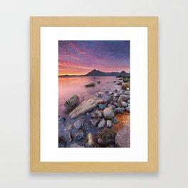 I - Spectacular sunset at the Elgol beach, Isle of Skye, Scotland Framed Art Print