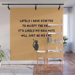 Cat Soulmate Wall Mural