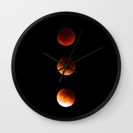 supermoon lunar eclipse Wall Clock