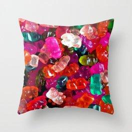 Yummy Gummies Throw Pillow