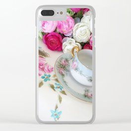Come for Tea Clear iPhone Case