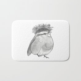 Bird with Bed Head Bath Mat