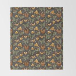 Autumn Moths Throw Blanket