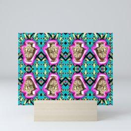 Ancient Vessel, Neon Blips Mini Art Print