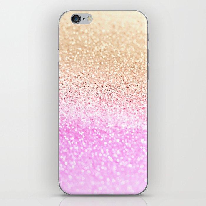 GOLD PINK GLITTER by Monika Strigel iPhone Skin