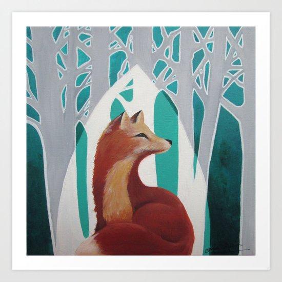 Fox Cathedral Art Print