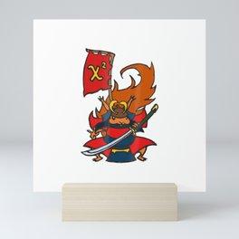 Chi-Square Samurai Squirrel Statistician Shirt Mini Art Print