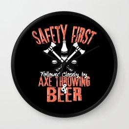 Axe Throwing & Beer T – Shirt Wall Clock