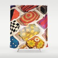 cars Shower Curtains featuring Vintage cars by cArt