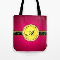 monogram Tote Bags featuring Monogram by Precious Art Print