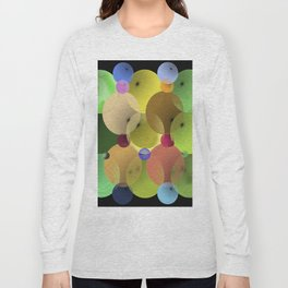 Ellipses and Spheres in Black Long Sleeve T-shirt