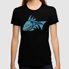 Escher Fish pattern III T-shirt
