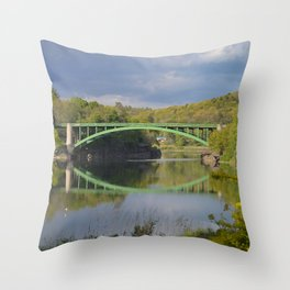 Summer Storm Clouds - Delaware River Throw Pillow