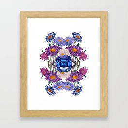 Birth Stone & Flower/SEPTEMBER Framed Art Print