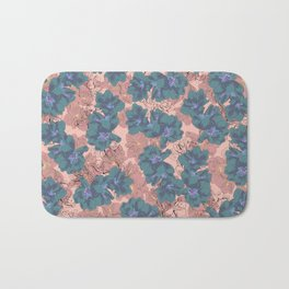 Faded Hibiscus Pink Bath Mat