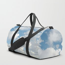 Clouds in a Blue Sky Duffle Bag