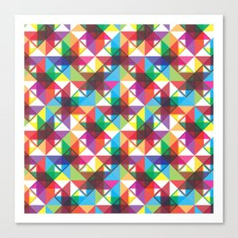 Abstract blocks pattern Canvas Print