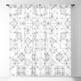 Science scheme geometric lines with alchemy symbols Blackout Curtain