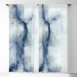 Indigo Abstract Painting | No.3 Blackout Curtain