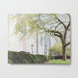 Chicago Spring Green Metal Print