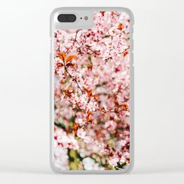 Cherry Blossom Tree (Color) Clear iPhone Case