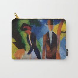 """August Macke """"Leute am blauen See (People at the blue sea)"""" Carry-All Pouch"""
