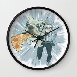 Quicksilver and Dog Wall Clock