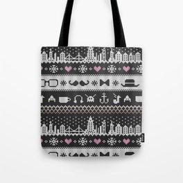 Hipster Knitting Tote Bag