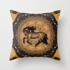 HORSE - Cherokee Throw Pillow