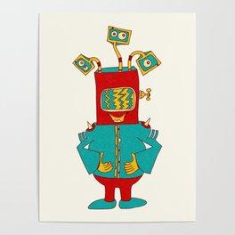 Robot Alien Monster No 075 Poster