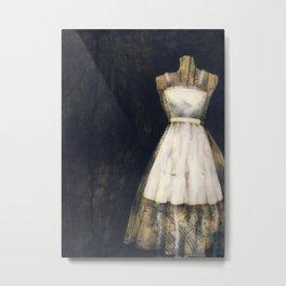 Little White Dress Metal Print