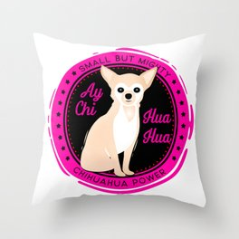 Ay Chihuahua Retro Chichi Throw Pillow