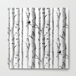 Trees Trunk Design Metal Print