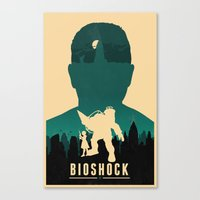 bioshock Canvas Prints featuring Bioshock by Bill Pyle