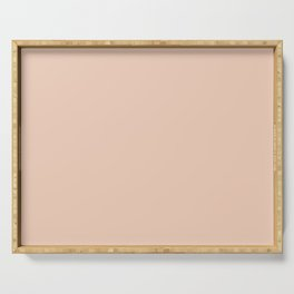 From The Crayon Box – Desert Sand Light Pastel Peach Solid Color Serving Tray