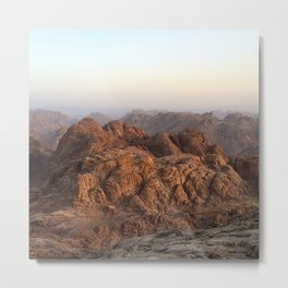 The view from Moses mountain. Sinai. Metal Print