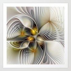 Tunnel Vision, Abstract Fractal Art Art Print