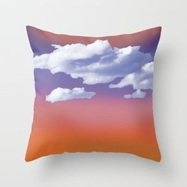 Clouds in Spring Throw Pillow