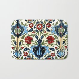 Tile with Carnations Bath Mat