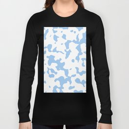 Large Spots - White and Baby Blue Long Sleeve T-shirt
