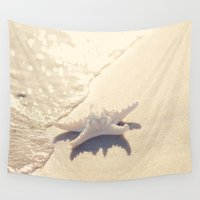 starfish Wall Tapestries featuring Sunlight Starfish by Erin Johnson