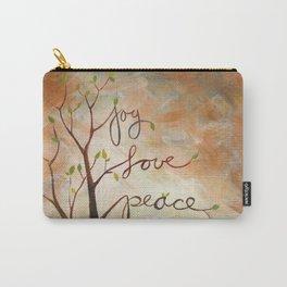 Joy, Love, Peace Carry-All Pouch