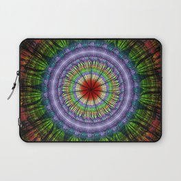 Groovy painterly mandala with tribal patterns Laptop Sleeve