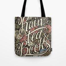Rain, Tea & Books - Color version Tote Bag