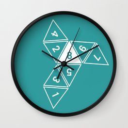 Teal Unrolled D8 Wall Clock