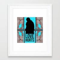 ygritte Framed Art Prints featuring Love Hurts Little Lordling by Evil Ice Cream