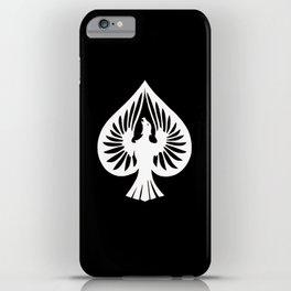 White Phoenix Ace of Spades iPhone Case