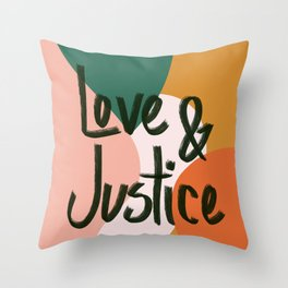 Love and Justice in Sunrise Throw Pillow