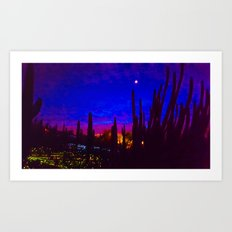 Sunset in Phoenix, Arizona Art Print