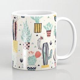 Cacti in a Flower Pot Coffee Mug